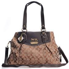 Coach Madison Madeline East West Large Coffee Satchels BXD