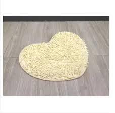 d h absorbent heart shape non slip bath mats bathroom carpet shower mat toilet bathroom