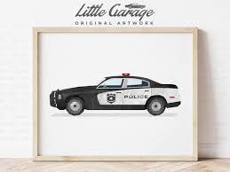 police truck decor toddler room prints