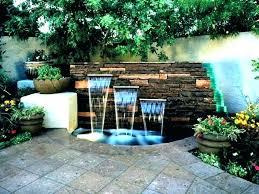 cascading water fountain indoor solar fountains for wagon wheel powered diy garden cement copper corner