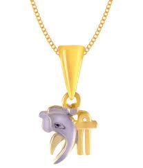 jewelscart 3d shree ganesha cz pendant 24k gold plated men women fashion jewellery jewelscart 3d shree ganesha cz pendant 24k gold plated men