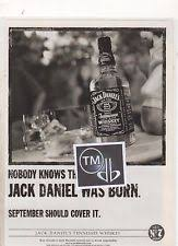 jack daniels advert 0 jack daniels whiskey nobody knows a4 poster advert cutting 05
