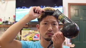短髪の七三ヘアジェルを使って短い髪の毛を七三にセットにしてみま