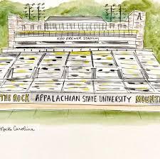 Kidd Brewer Stadium Print Appalachian State University Football Stadium Art Mountaineers Football 8x10 Stadium Print Boone Nc