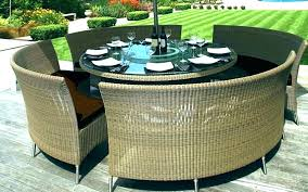 round patio table set with fire pit myminer info within outdoor and chairs prepare 49