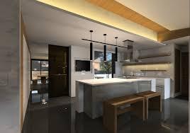 Modern open kitchen bar Decoration
