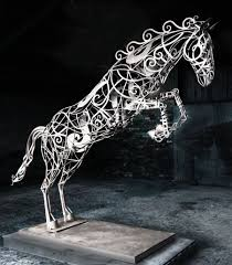 wrought iron garden or yard outside and outdoor sculpture by sculptor david freedman titled
