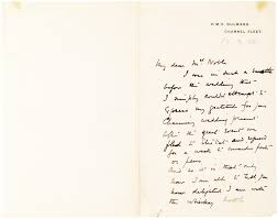 a letter from the famed english antarctic explorer on the subject of his wedding and honeymoon