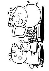 Small Picture Peppa pig cartoon coloring pages for kids how to coloring peppa