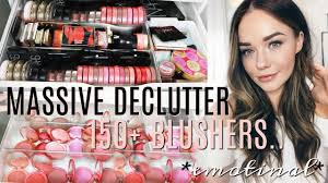 decluttering and organizing my huge makeup collection blusher