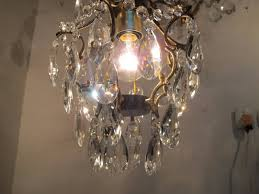 image of antique crystal chandeliers interior