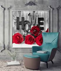 wall art rose canvas prints black white