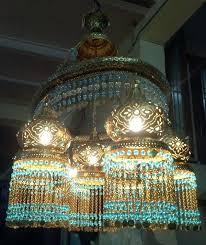mosaic chandelier spiral turkish lamps