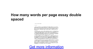how many words per page essay double spaced google docs