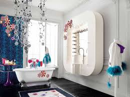 bathroom: Bewitching Interior Girls Bathroom Ideas With Best Vanity Also  Large Mirror Plus Bathtub Again