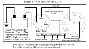 battery charging alternator wiring diagram trunk mounted and cable Kill Switch Installation starter alternator and battery wiring diagram 4 terminal kill switch instructions auto racing disconnect