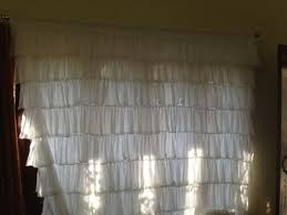 save this item for viewing later view larger image off white ruffle shower curtain light