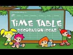Timetable Chart Ideas Time Table Decoration Ideas