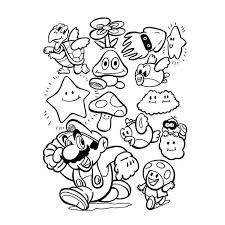 Coloriage Mario Galaxy élégant Mario Kleurplaten Animaatjes Dessin