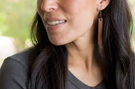 leather drop earrings
