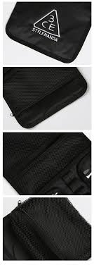 3ce Wash Bag_small Black