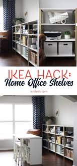 office shelves ikea. Brilliant Ikea Over 11 Linear Feet Of Chic Shelving Made From Super Cheap IKEA Storage  Shelves This Is An Awesome Hack In Office Shelves Ikea H