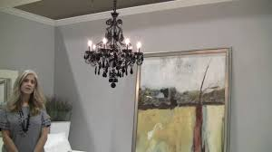 schonbek capella black crystal chandelier