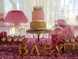 Superb Pink And Gold Baby Shower Decorations Collection