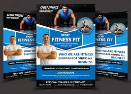 Fitness Flyer Template Luxury Gym Fitness Brochure Template Pack ...