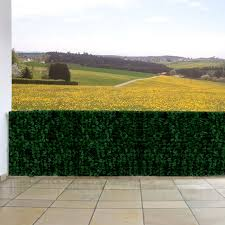 Windschutz Verkleidung F R Balkon Terrasse Zaun Blatt Dunkel 300