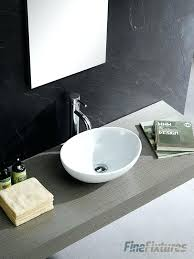 modern bathroom sink. Bathroom Sink Modern Oval Vessel Corner