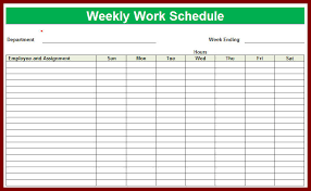 easy work schedule maker weekly schedule free deodeatts tk
