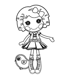 Small Picture Its a Blast say Dot Starlight in Lalaloopsy Coloring Page Color Luna