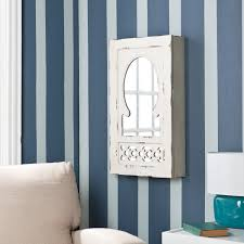 magdalene shabby chic mirrored wall mount jewelry armoire