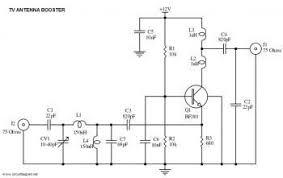 tv antenna booster. uhf tv antenna booster circuit diagram tv