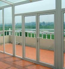 roomeye high quality water tight heat insulated pvc casement glass door for sunroom