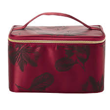images bloom train case cosmetic bag