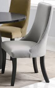 amazon set of 2 parson dining chairs with curved back in gray chairs