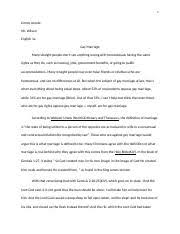 gay marriage outline outline intro in early times same sex 10 pages gay marriage research paper
