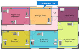 draw floor plans office. Astounding Inspiration 10 How Can I Draw A Floor Plan On The Computer Network Layout Plans Solution Office