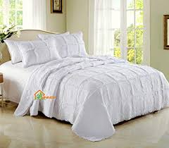 white quilt queen. Brilliant Quilt HHNSI 3 Pieces White Quilt Bedspread Coverlet Sets Queen Size Cotton Comfy  Comforter Bedding On