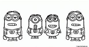 Small Picture Coloring Pages Printable Minions Coloring Coloring Pages