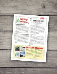 Holiday Newsletter Template Classy Christmas Newsletter Template In PDF For Print Rustic