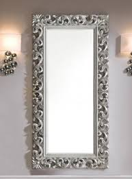 Small Picture Large Modern Contemporary Mirror in Silver Finish