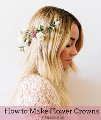 diy how to make flower crowns