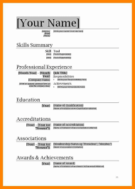 2007 Word Resume Template Resume Format Download In Ms Word 2007 Free Resume Templates
