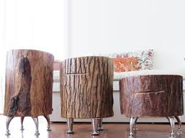 furniture made from tree trunks. Quirky Tree Trunk Tables Handmade From Salvaged Lumber | Inhabitat - Green Design, Innovation, Architecture, Building Furniture Made Trunks S