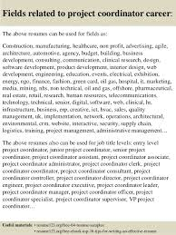 Project Coordinator Sample Resume Sample Resume Of A Software