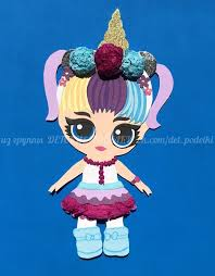 Бумажная куколка <b>Лол</b> Doll <b>Lol</b> papercraft for <b>kids</b> детские поделки ...