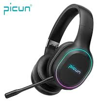Picun <b>P80S Gaming Headsets</b> Big Headphones with Light Mic ...
